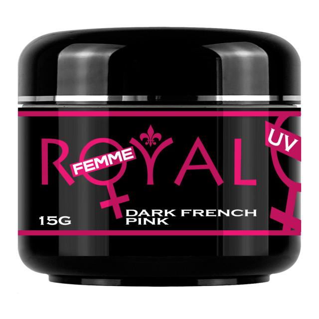 Gel UV Dark French Pink Royal Femme Cover 15 ml imagine produs