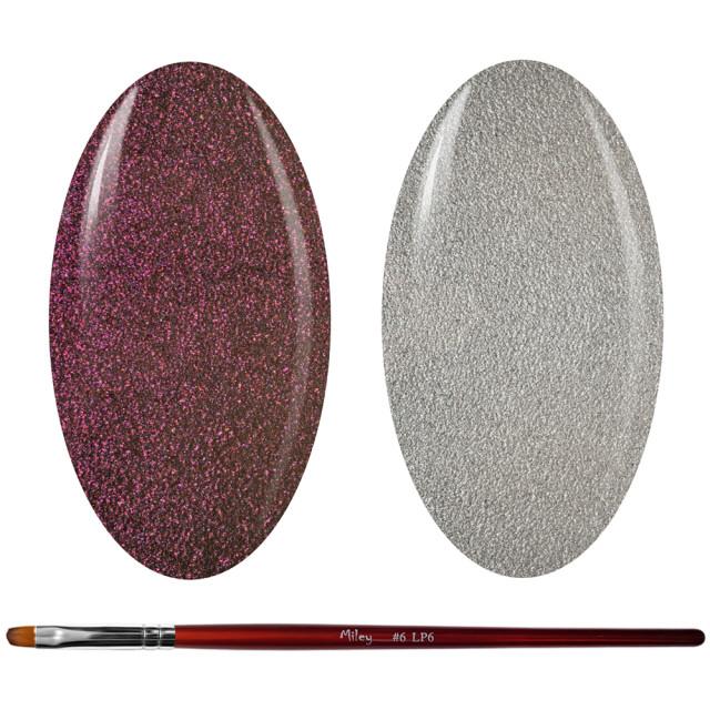 Kit Geluri Color + Pensula Gel Unghii, Cod K2GP-45S/55S imagine produs