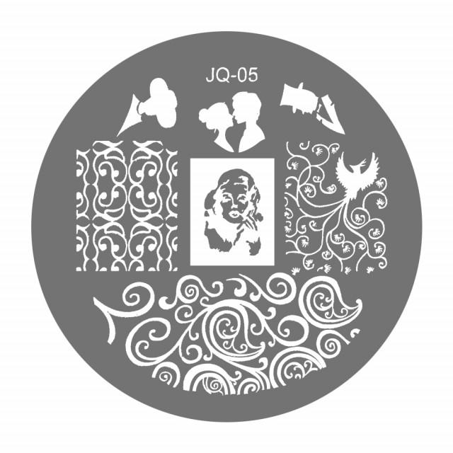 Matrite Stampile Unghii, Cod JQ-05, Accesorii Profesionale Manichiura imagine produs