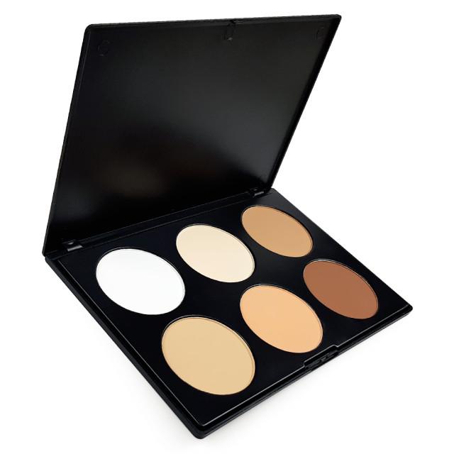 Paleta Machiaj Pleoape 6 Culori Umbre si Iluminare Eyeshadow imagine produs