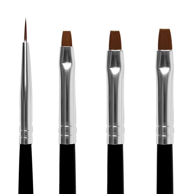 Pensule Unghii, Set 4 Buc Pensule Mixte imagine produs