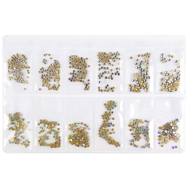 Pietricele Unghii cu Reflexii Argintii / Multicolore imagine produs