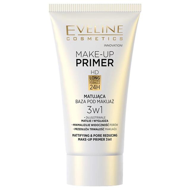 Primer Machiaj 3in1 Mattifying & Pore Reducing Eveline Cosmetics 30 ml imagine produs