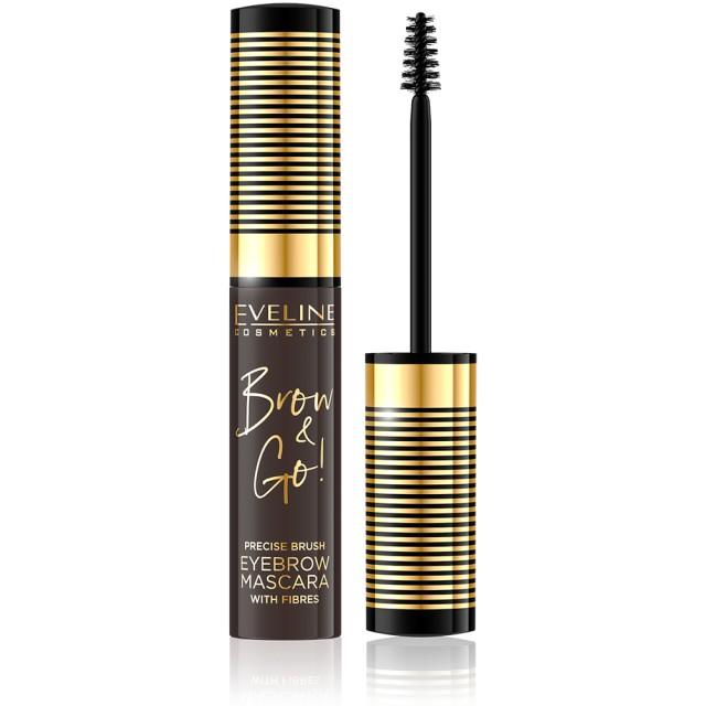 Rimel Sprancene cu Fibre 'Brow & Go' Eveline Cosmetics, 02 Dark imagine produs