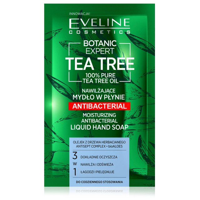 Sapun Lichid Hidratant Antibacterian 3in1 Botanic Expert Tea Tree Oil 100% Pure Eveline imagine produs