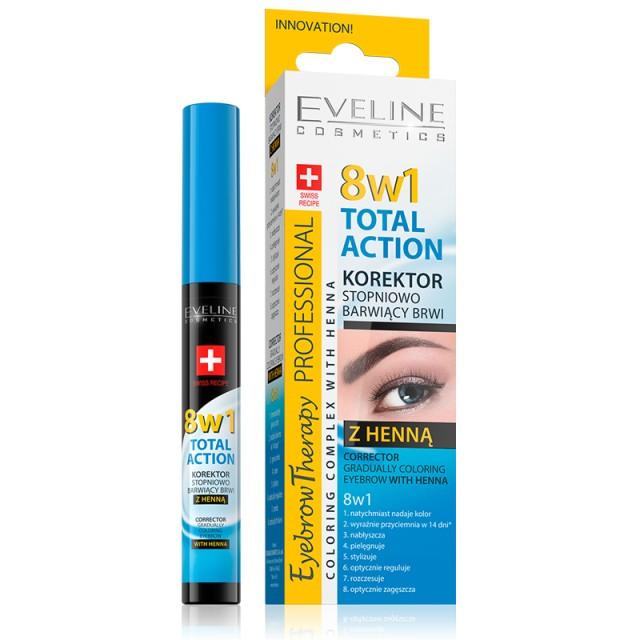 Corector Sprancene Cu Vopsea Henna 8 in1, Evelince Cosmetics, Gr. 10ml imagine produs