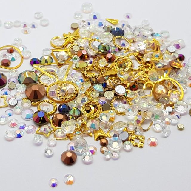 Decor Unghii, Ornamente Metalice si Pietricele, 82225 imagine produs