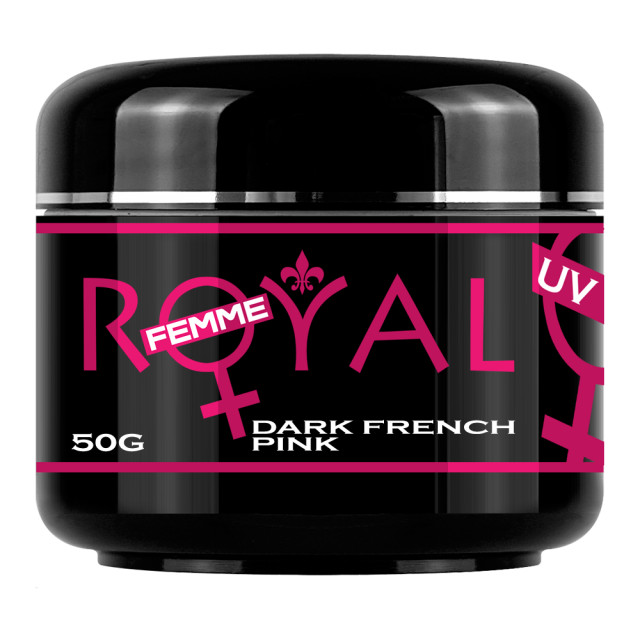 Gel UV Dark French Pink Royal Femme Cover 50 ml imagine produs