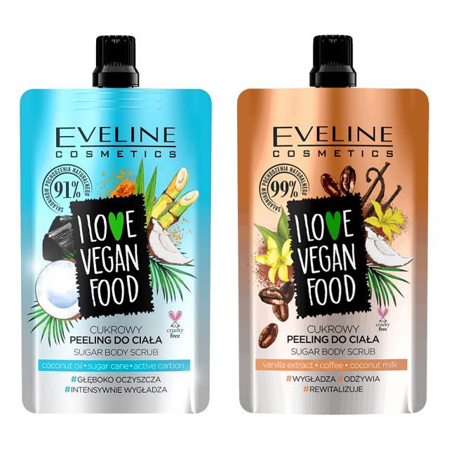 Kit Scrub Detox Vegan Peeling Eveline Cosmetic 2 Produse imagine produs