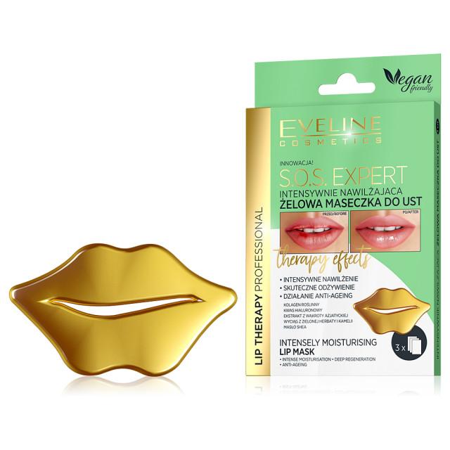 Masca Buze Hidratare Intensa si Regenerare Profunda SOS Expert Eveline Cosmetics 3 Buc imagine produs