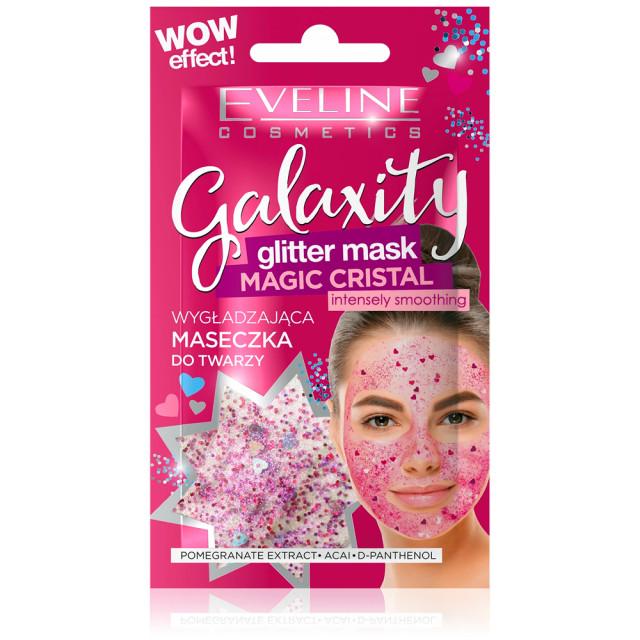 Masca Gel de Fata cu Sclipici Eveline Cosmetics Galaxity Magic Cristal 10 ml imagine produs