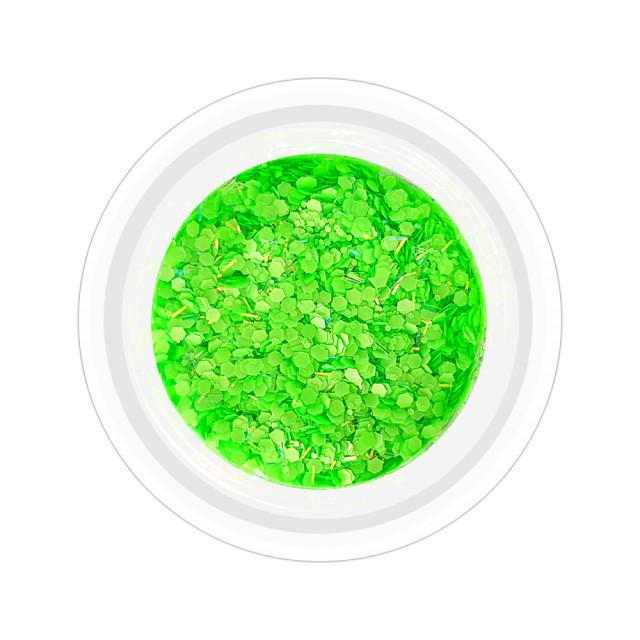Paiete Unghii cu Holograme Neon Cod NH-05, Culoare Verde imagine produs