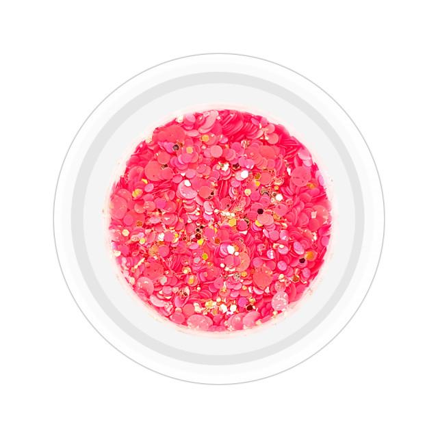 Paiete Unghii cu Sclipici Neon Cod NG-02 Culoare Roz Intens imagine produs