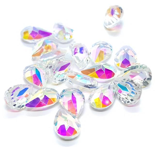 Pietre Unghii, Forma Lacrima, Transparente cu Reflexii Multicolore imagine produs