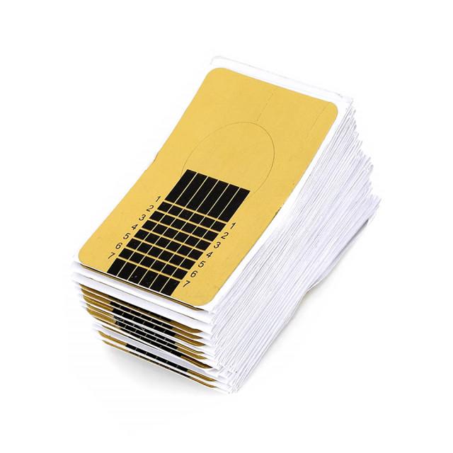 Sabloane Drepte Prelungit Unghii, Cantitate 100 Bucati Auriu imagine produs