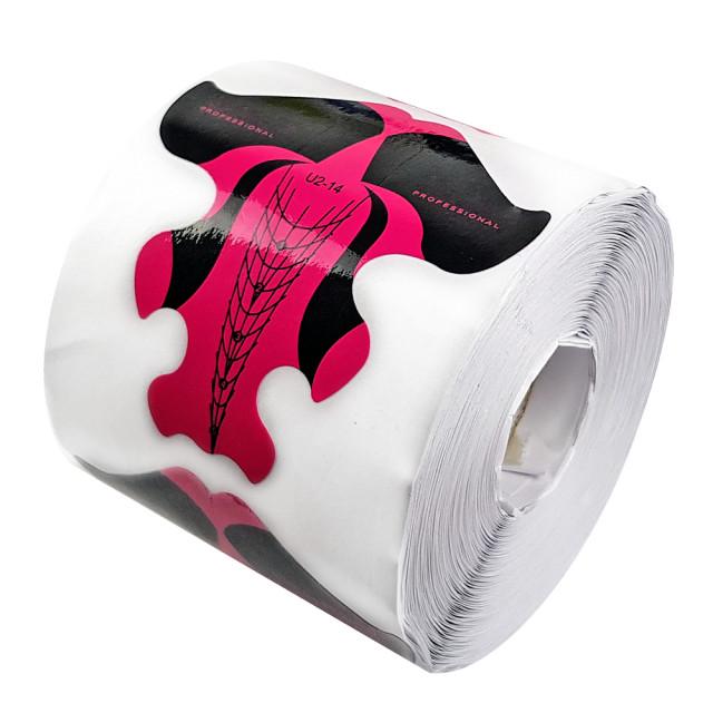 Sablon Prelungit Unghii Rola, Forma Stiletto, Cantitate 500 Bucati Roz imagine produs