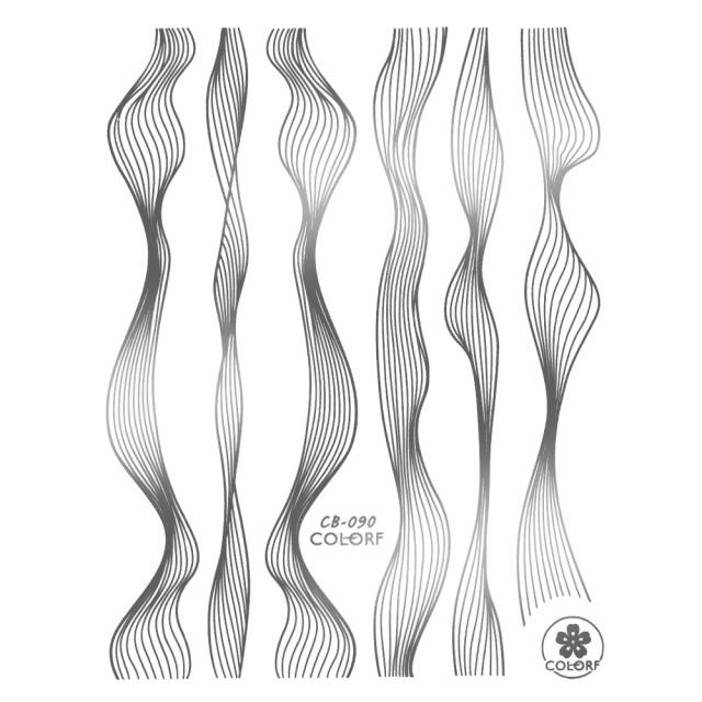 Abtibilde si Stickere Unghii, Argintiu, CB-090 Silver imagine produs