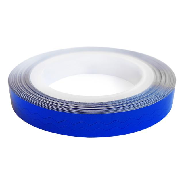 Banda Adeziva Unghii Zig Zag, Albastru Ultramarin imagine produs
