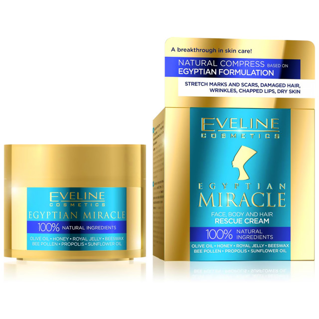 Crema Regenerare Fata Corp si Par 100% Ingrediente Naturale Eveline Cosmetics Egyptian Miracle imagine produs
