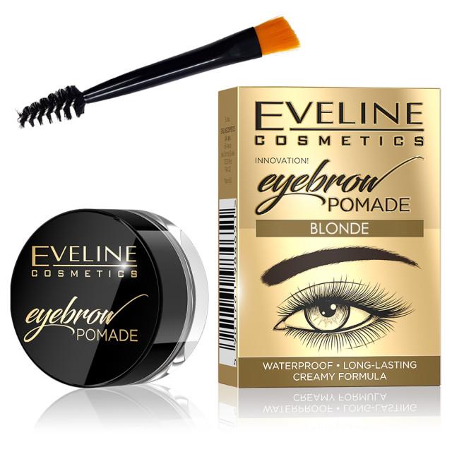 Fard Sprancene Eveline Cosmetics Eyebrow Pomade, Blonde imagine produs
