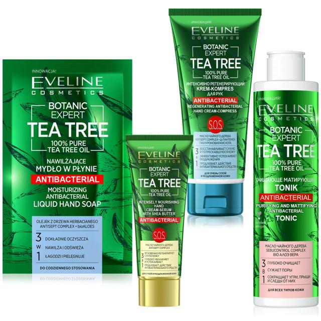 Kit Ingrijire Personala Antibacteriana Botanic Expert Tea Tree Oil 100% Pure Eveline Cosmetics imagine produs
