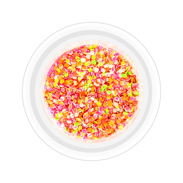 Paiete Unghii cu Holograme Neon Cod NH-04, Culoare Mixt imagine produs