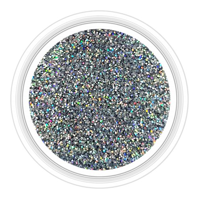 Sclipici Unghii Culoare Argintiu cu Reflexii Multicolore Cod 06 imagine produs