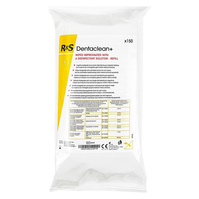 Servetele Igienizare si Dezinfectare Suprafete Dentalclean+® R&S, Rezerva 150 Buc imagine produs