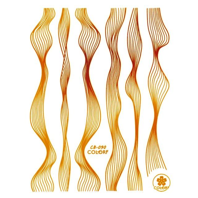 Abtibilde si Stickere Unghii, Auriu, CB-090 Gold imagine produs