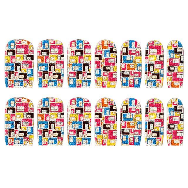 Abtibilde Unghia Intreaga 14 Buc, C1025, Stickere Unghii imagine produs