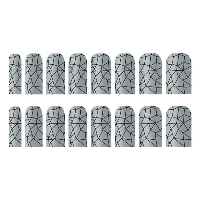 Abtibilde Unghia Intreagã 16 Buc, Silver Ornaments, Stickere Unghii imagine produs