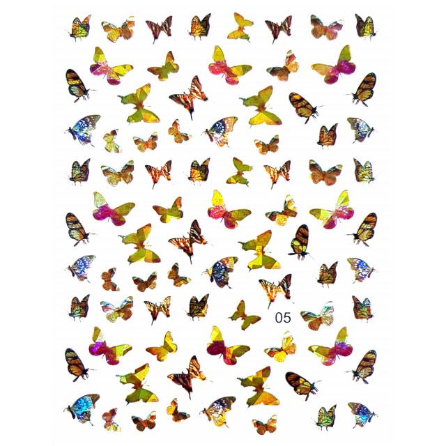 Abtibilde Unghii Motive Decorative Fluturi, JN05 imagine produs