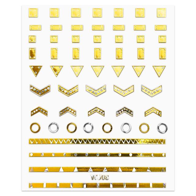 Abtibilde Unghii Motive Decorative Glam Touch, WJ08 imagine produs