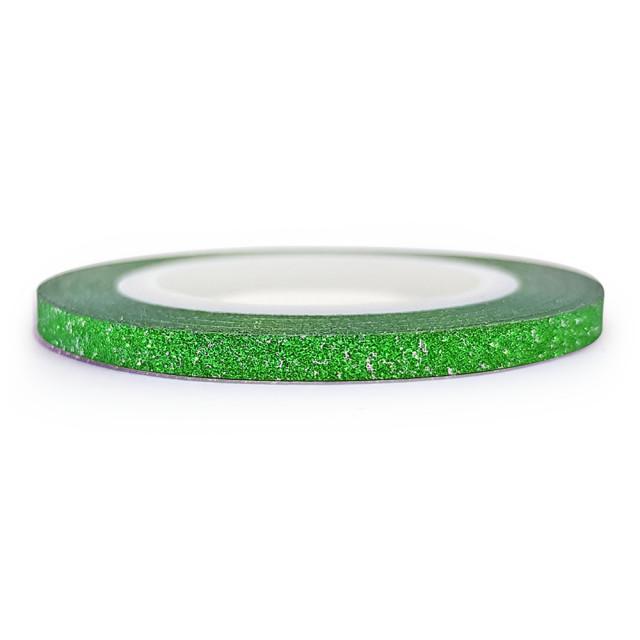 Banda Adeziva Decor Unghii cu Sclipici Verde Latime 3mm imagine produs