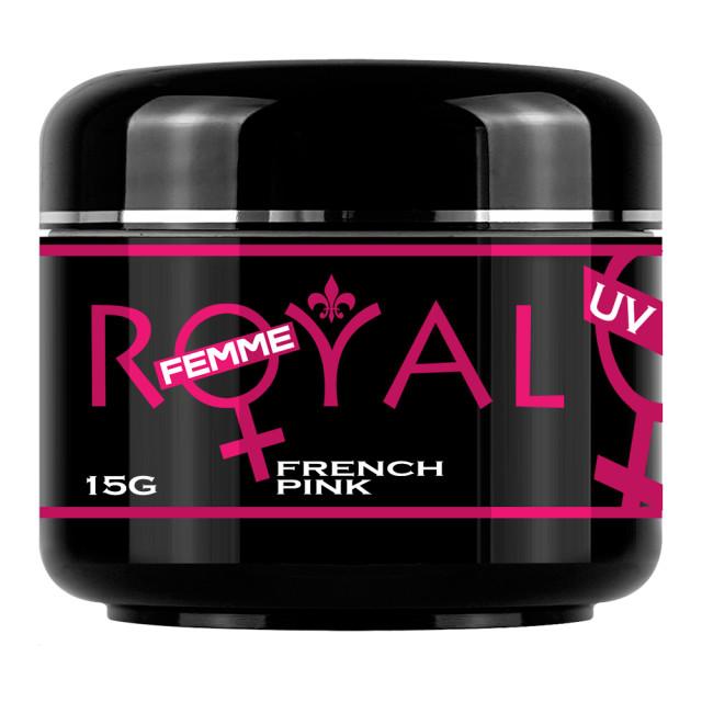 Gel UV French Pink 2 in 1 Royal Femme, Baza si Constructie, 15 ml imagine produs