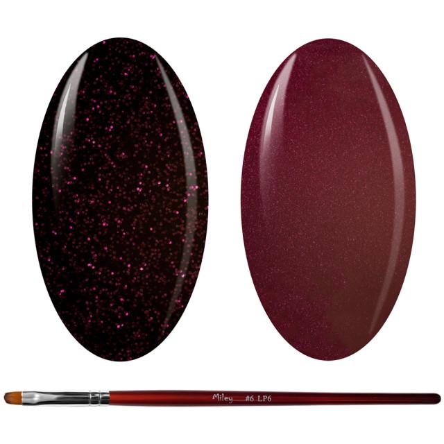 Kit Geluri Color + Pensula Gel Unghii, Cod K2GP-48S/47S imagine produs