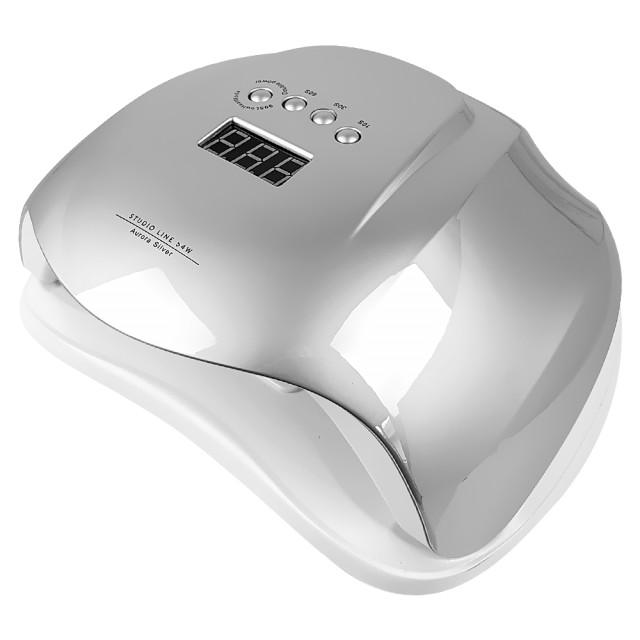 Lampa LED/UV 54 Watt cu Aprindere Automata la Senzor, Studio Line Aurora Silver imagine produs
