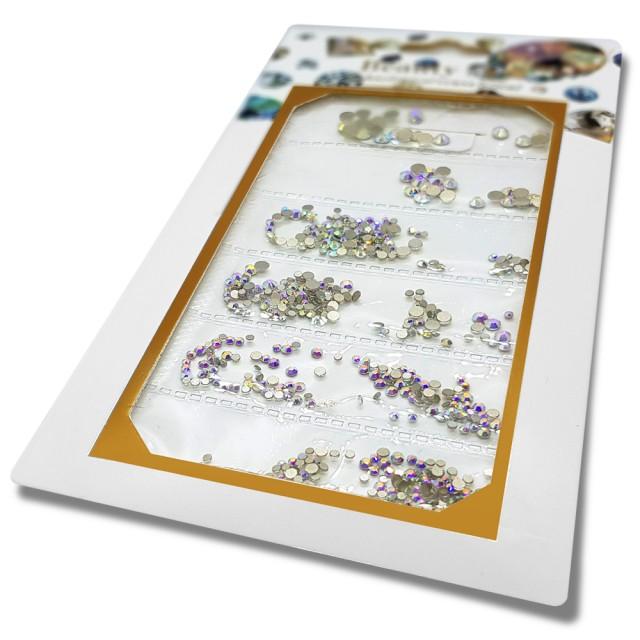 Pietricele Unghii Tip Swarovski, 5 Marimi, Reflexii Multicolore imagine produs