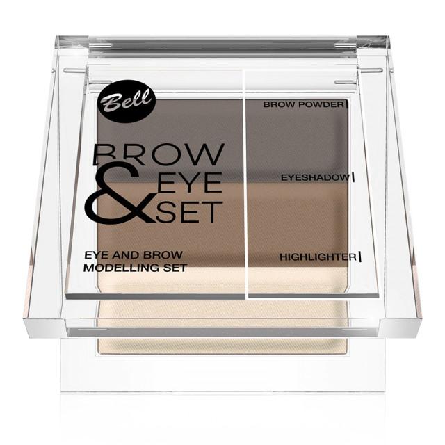 Set Corector Sprancene si Paleta Machiaj Bell Cosmetics Brow & Eye Set N 03 imagine produs
