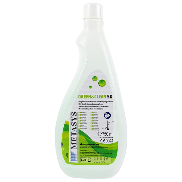 Solutie Igienizare Suprafete Green & Clean SK fara Alcool, 750ml imagine produs