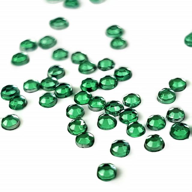 Strasuri Unghii Pietricele Culoare Verde Crom, Pietre Decorative Manichiura imagine produs
