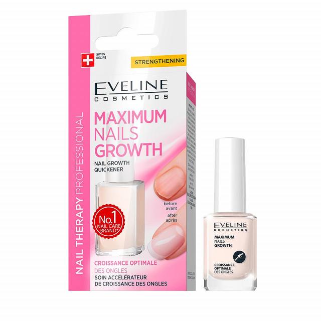 Tratament Cresterea Rapida a Unghiilor Eveline Cosmetics Maximum Nails Growth imagine produs