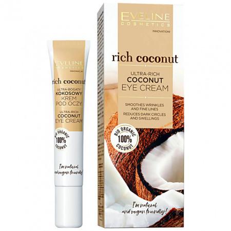 Crema Anticearcane si Antiriduri Zona Ochilor Ultra-Rich Coconut Eveline Cosmetics