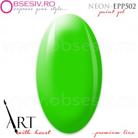 Geluri Paint Premium Line, Exclusive Nails, Cod EPP502, Gramaj 5ml, Culoare Neon Green