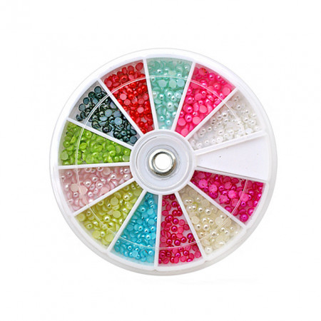 Jumatati Perla Unghii Multicolore, Disc Nail Art, Cod JP-02