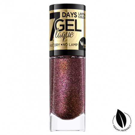 Lac Unghii cu Efect de Gel 7 Days Gel Festive Eveline Cosmetics No 01