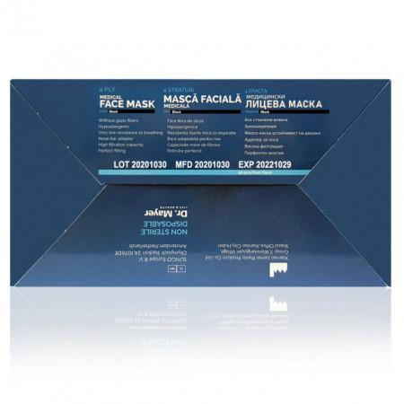 Masti Medicale Protectie cu 4 Straturi Dr. Mayer Black Edition, Cutie 50 Bucati
