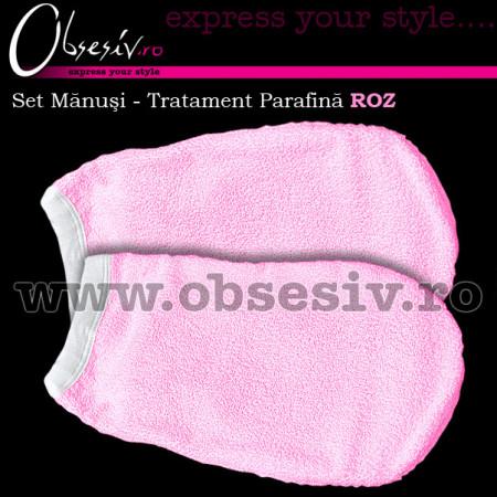 Set Manusi Tratament Parafina, Culoare Roz