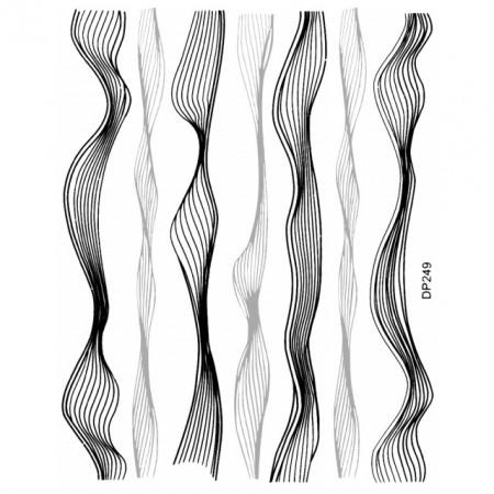 Abtibilde Unghii cu Motive Decorative Lineare DP249, Stickere Unghii
