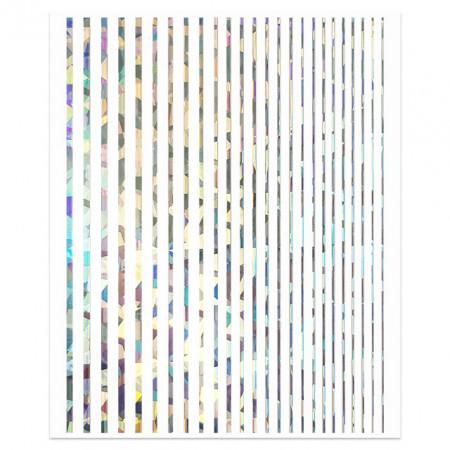 Abtibilde Unghii Motive Decorative Liniare, Linera Silver Reflection